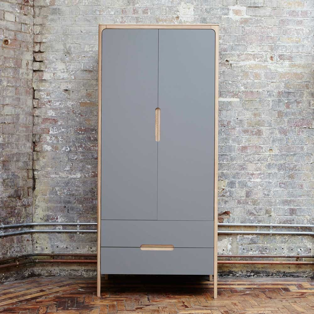 Como narrow wardrobe - 2 doors, 2 drawers