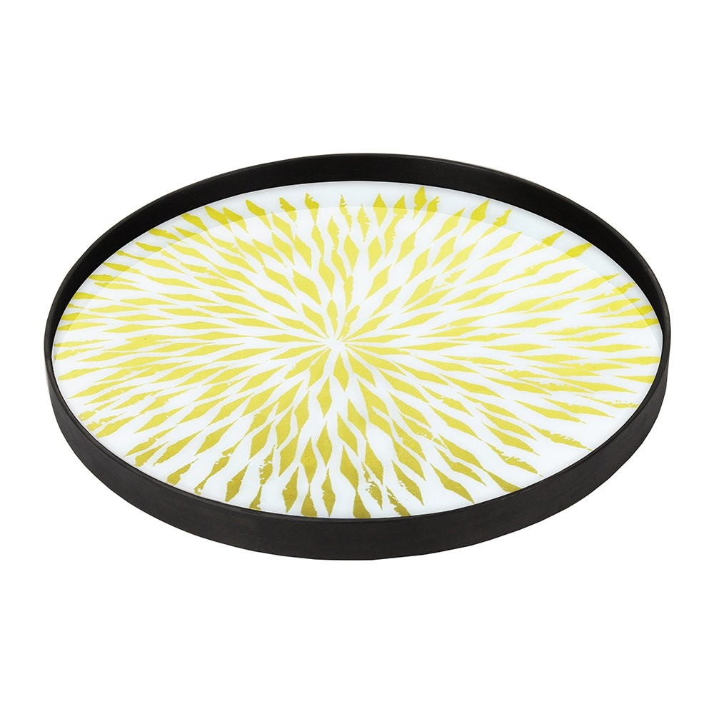Notre Monde Dahlia - Glass Round Tray - Medium 61cm