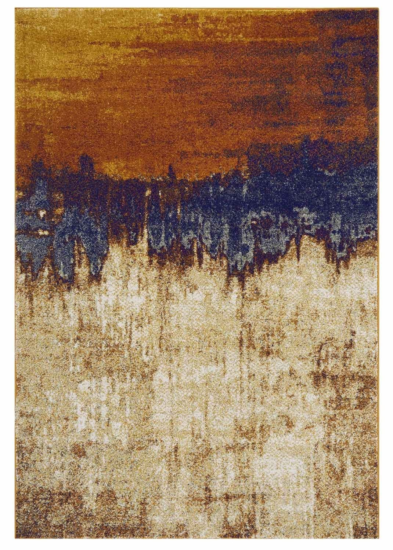 Distress rug - orange