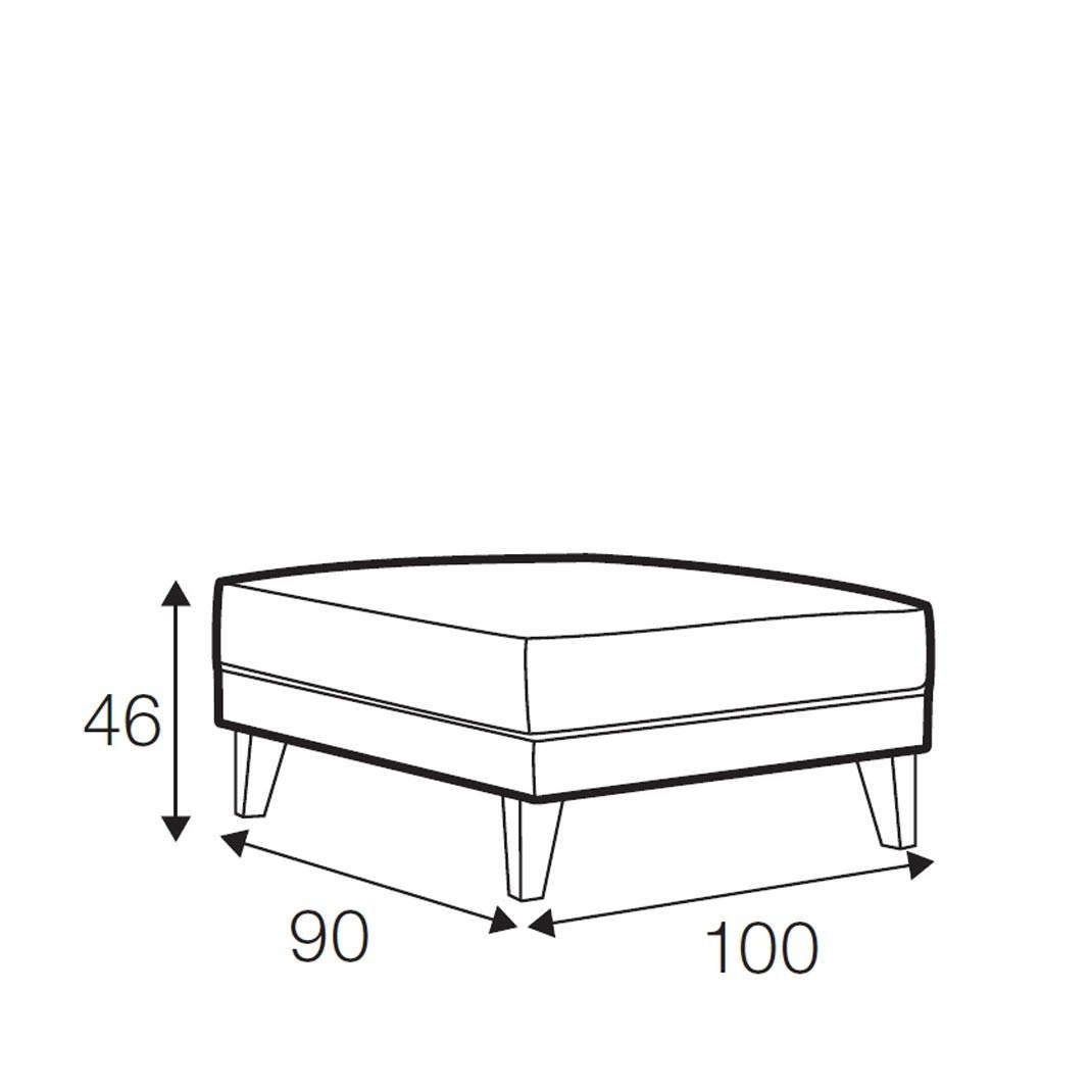 Sunday footstool medium