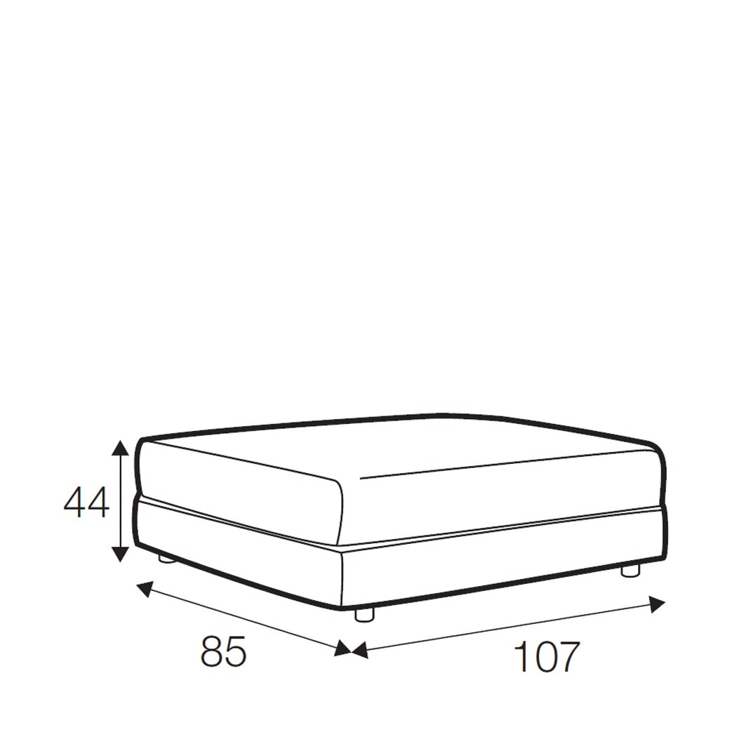 Kenza footstool - medium