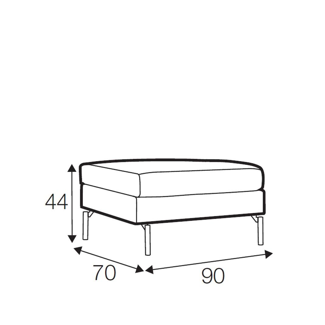 Wave footstool