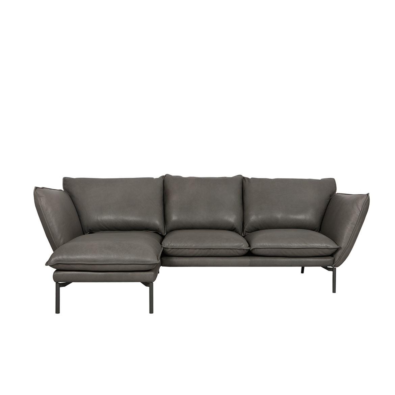 Hug corner leather sofa - set 1