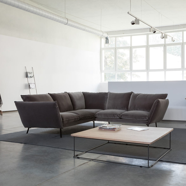 Hug corner leather sofa - set 5