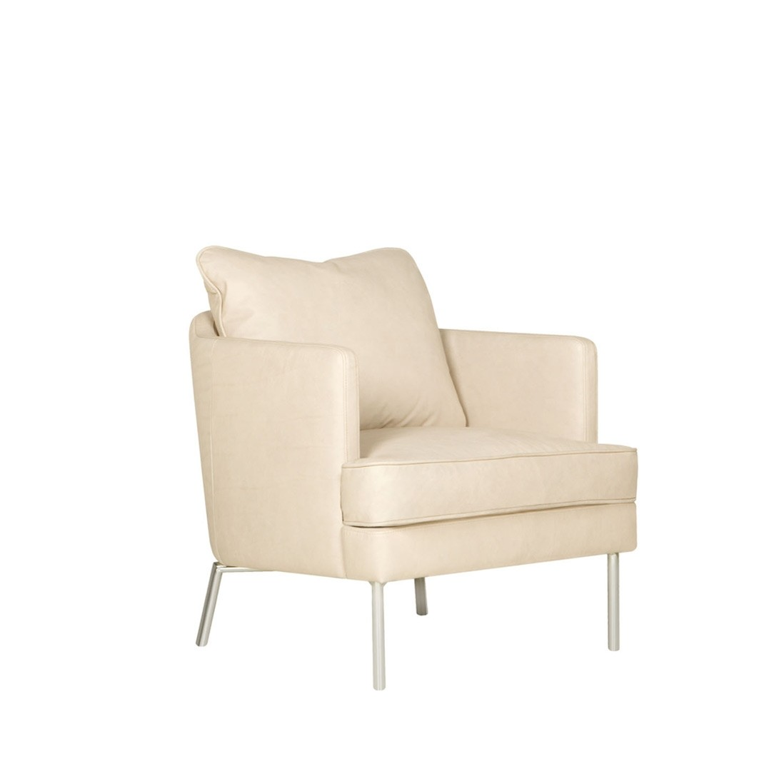 Jules leather armchair