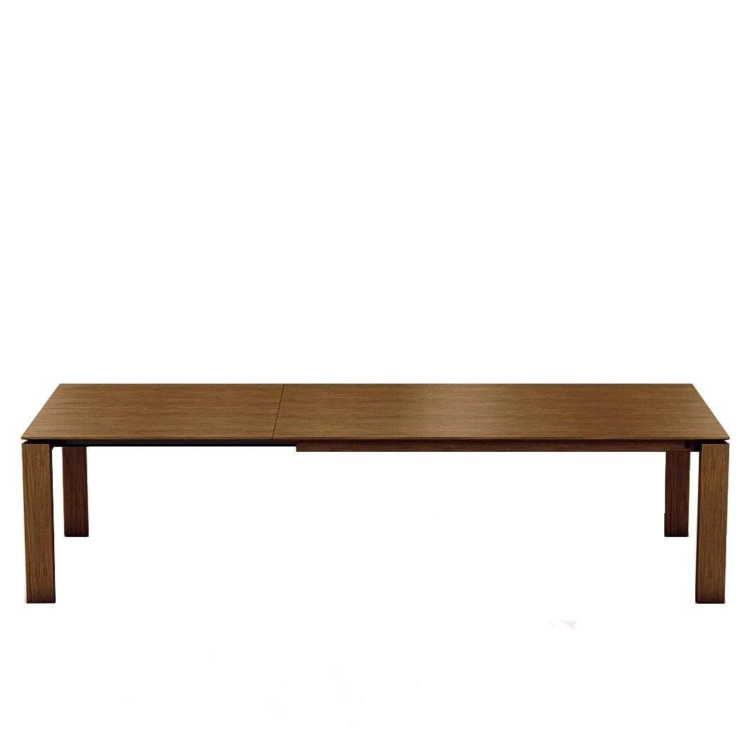Mason straight leg PB1 walnut extending dining table