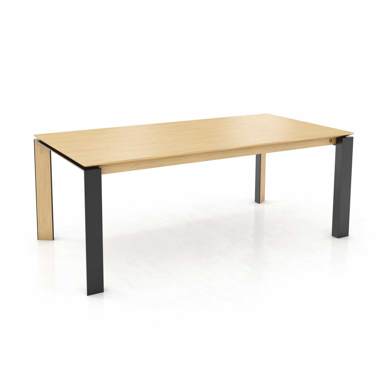 Mason metal leg PB3 oak dining table