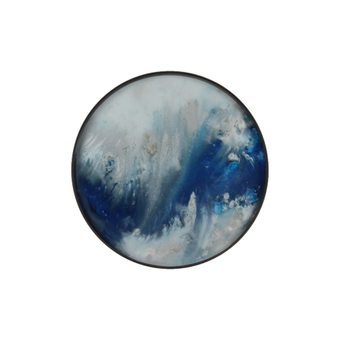 Notre Monde Blue Mist Organic - Glass Round Tray - Small 48cm