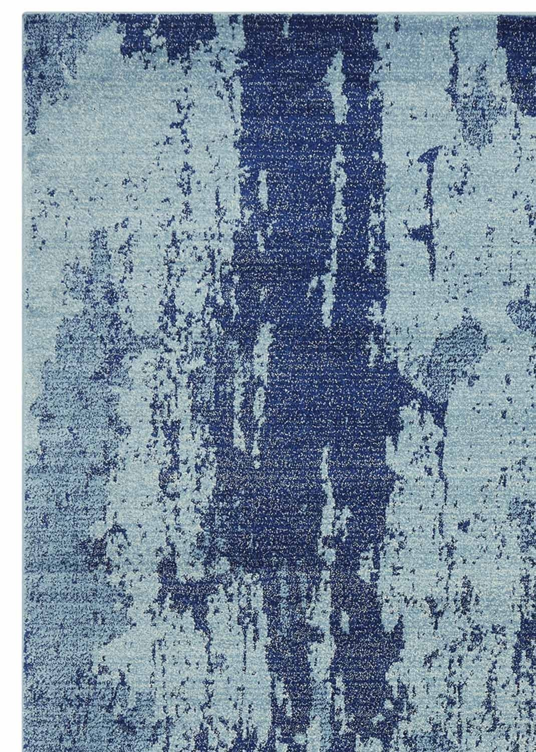 Distress rug - Painterly blue