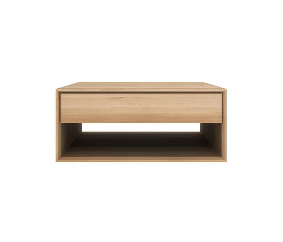 Ethnicraft oak nordic coffee table 1 drawer for Coffee table 80 x 80