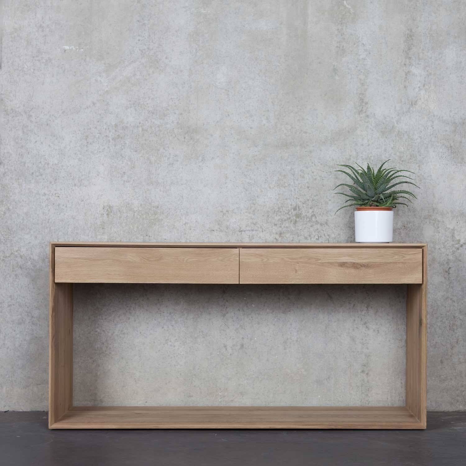 Ethnicraft Oak Nordic Console 2 Drawers