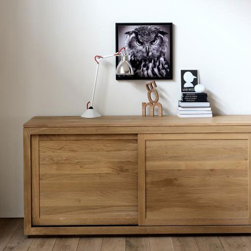 Ethnicraft Pure oak sideboards