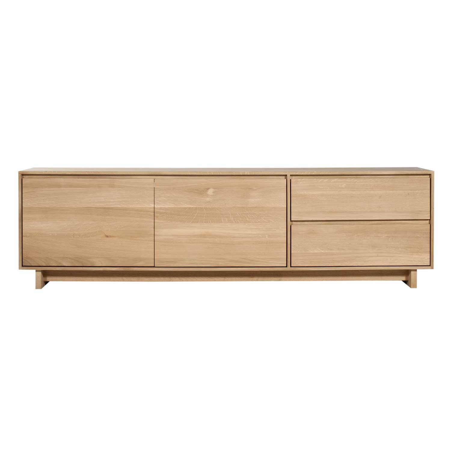 Ethnicraft Oak Wave TV cupboard - 210cm