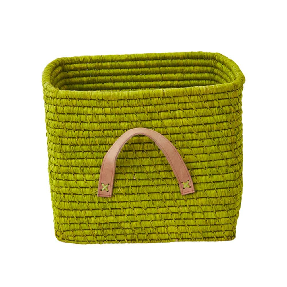 rice-raffia-storage-basket-green-anis