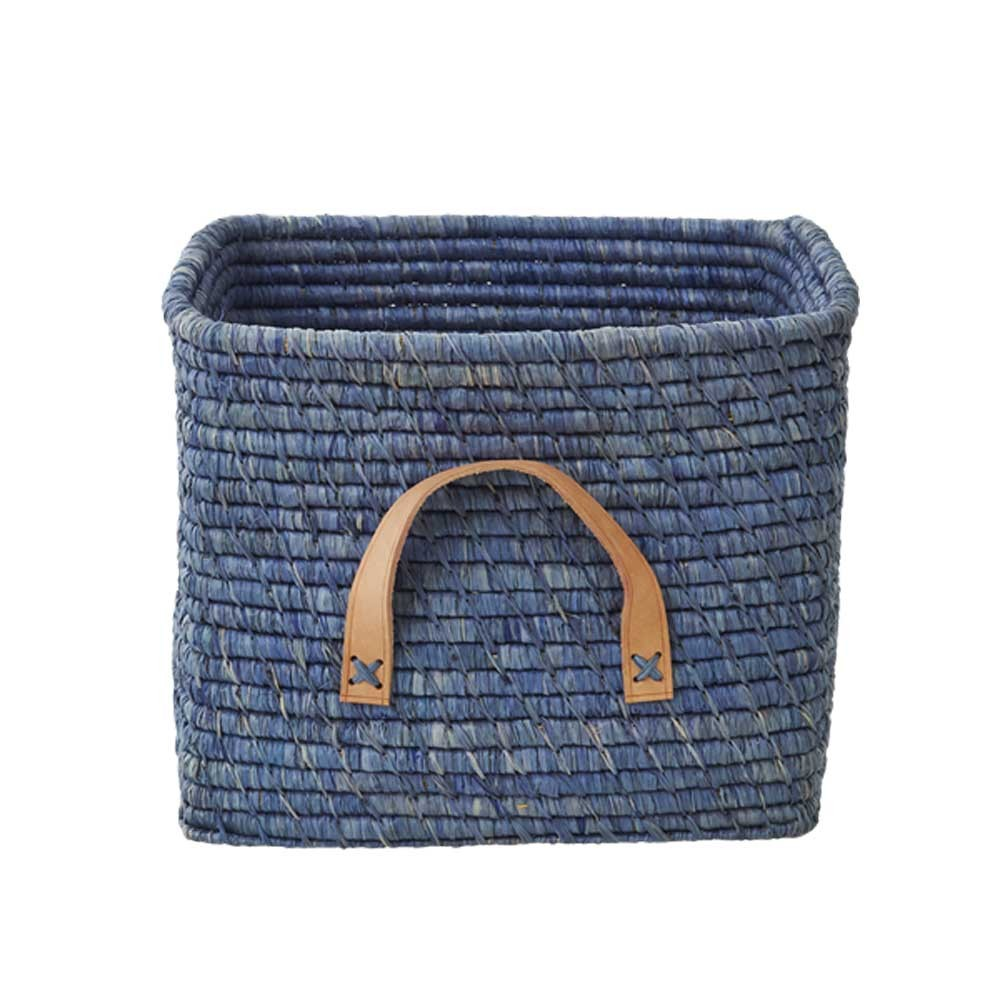 Ordinaire Product, Price, Availability. Raffia Storage Basket, Blue ...