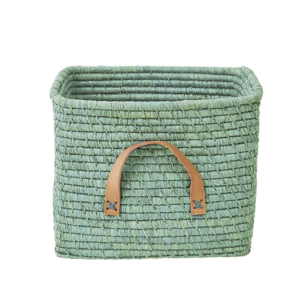 rice-raffia-storage-basket-mint