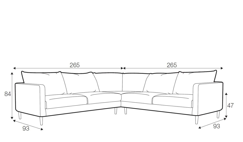 Sanford corner sofa - set 3
