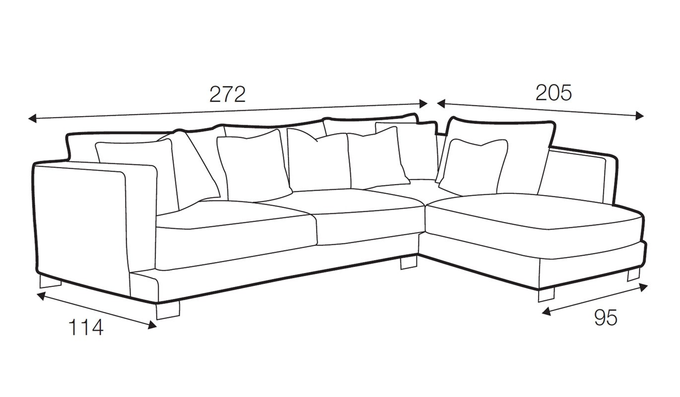 Baltimore corner sofa - set 3