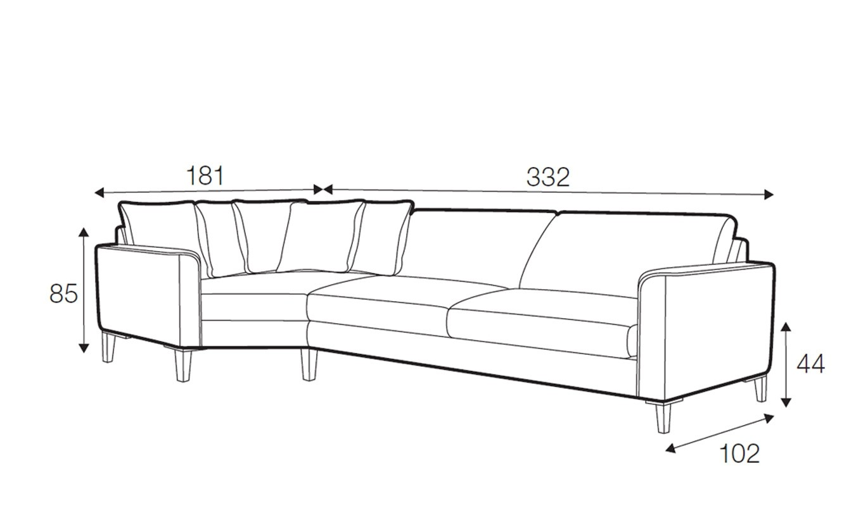 Hacienda corner sofa - set 5