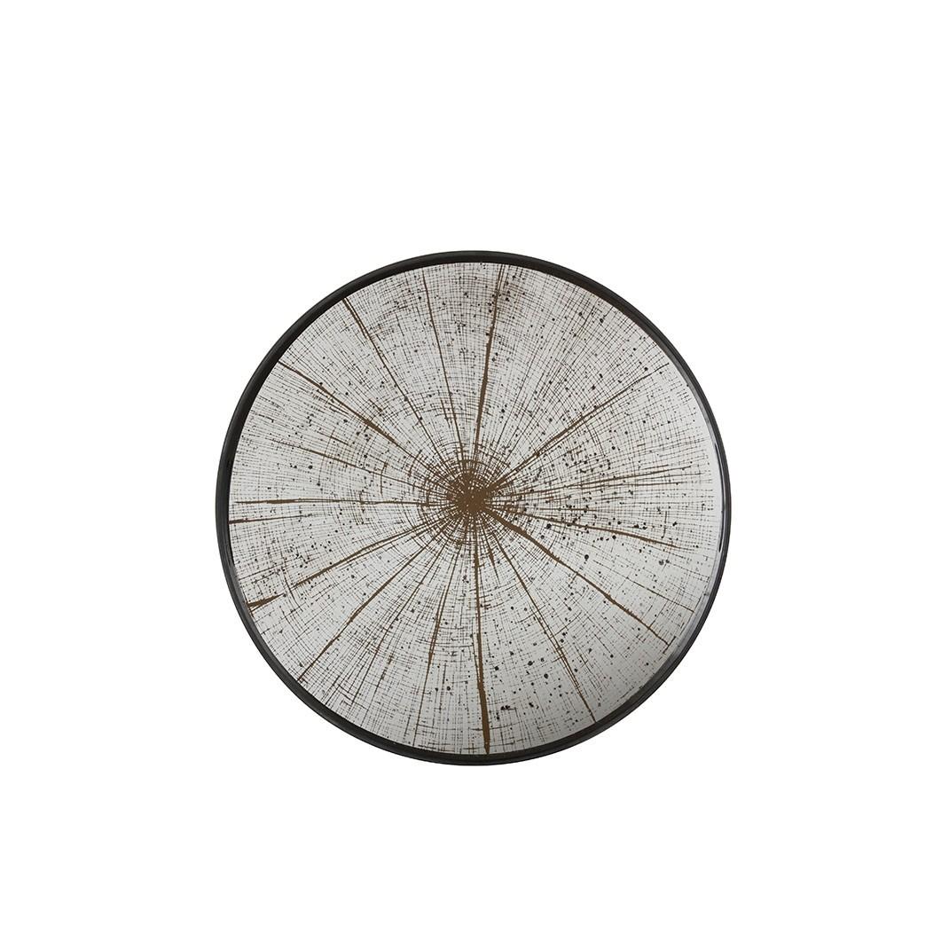 Notre Monde Slice - Mirror Round Tray - Small 48cm
