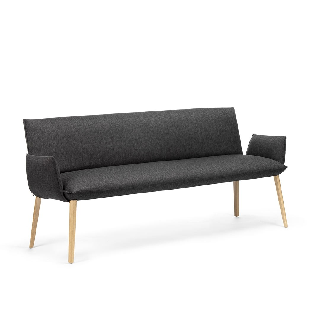 Soft Trio bench with armrest