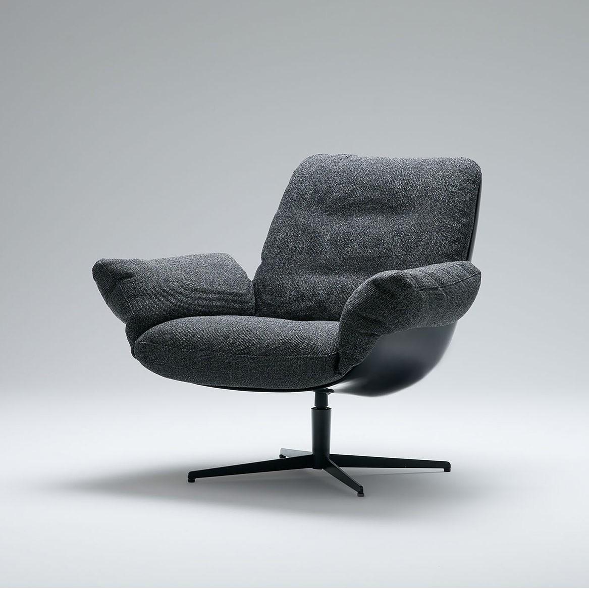 Soft bird armchair with swivel