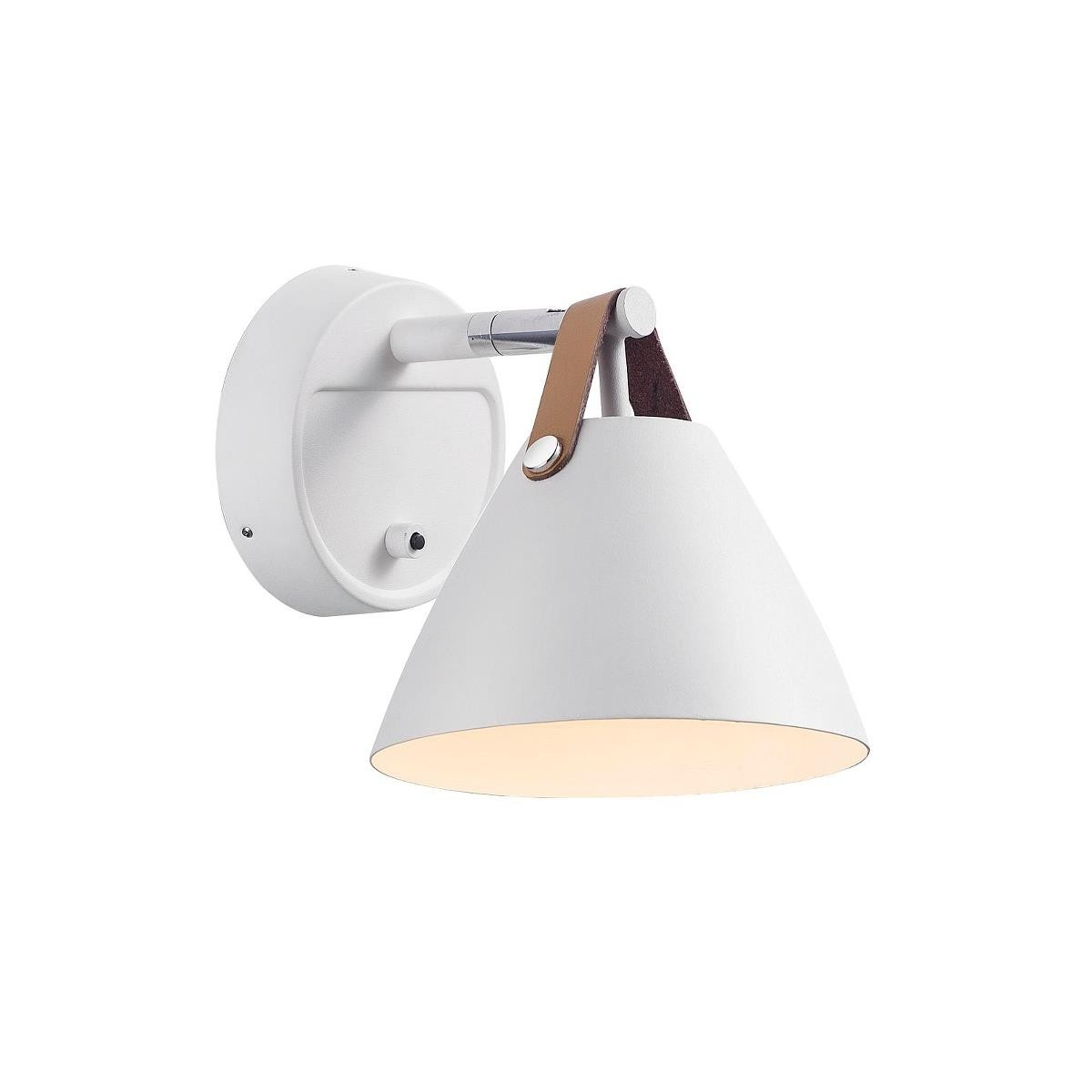 Strap 15 wall light - white
