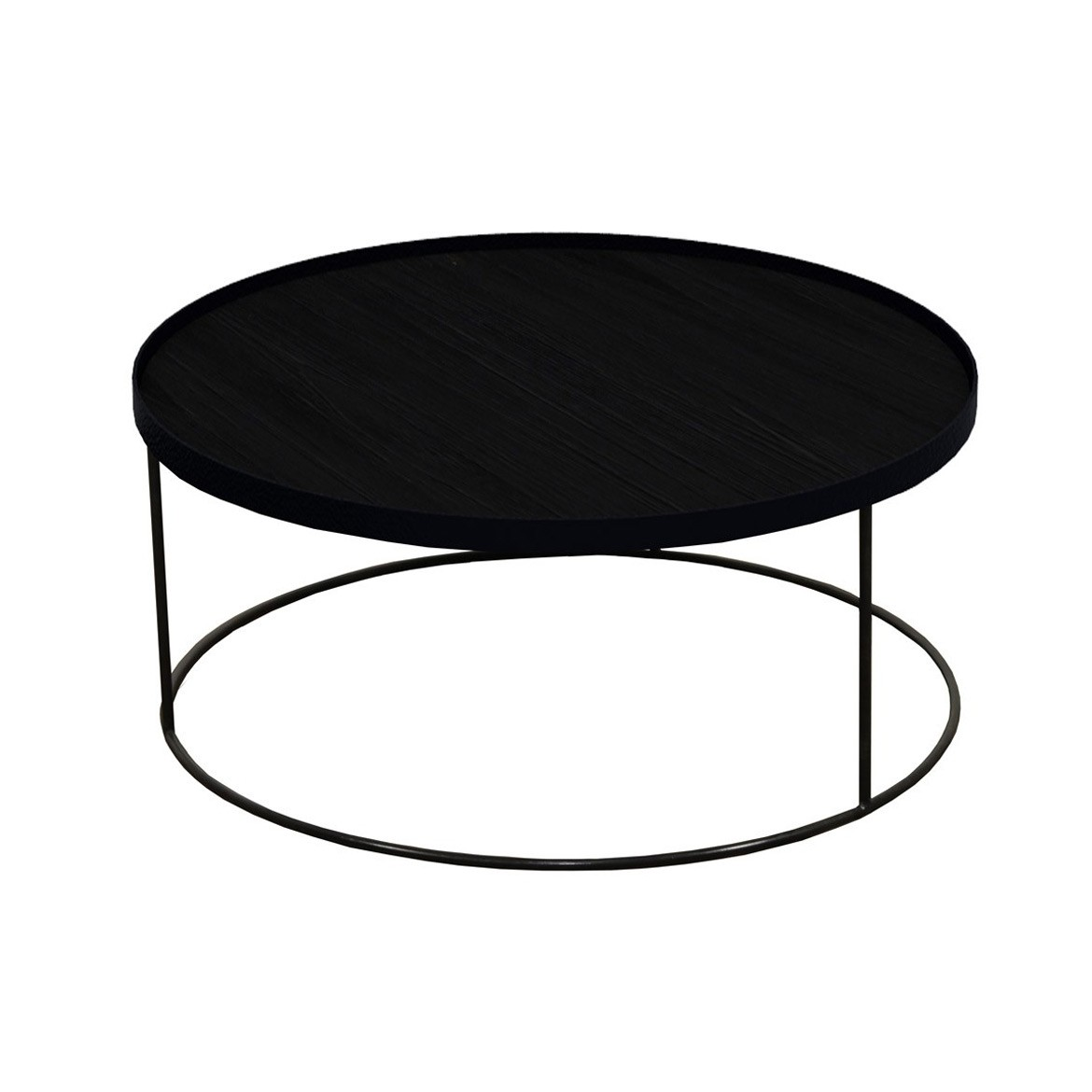 Notre Monde Round Tray Table - Extra Low