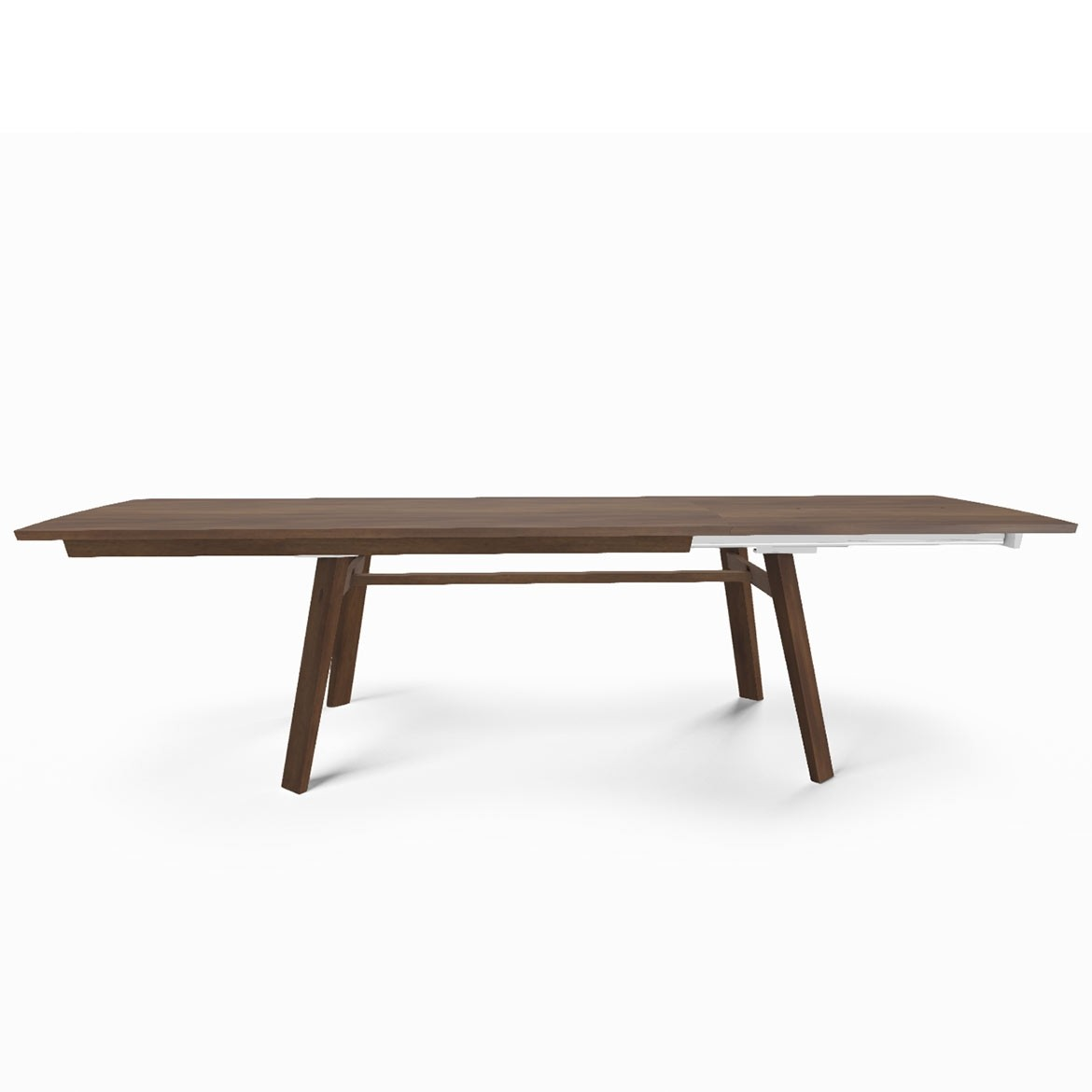 Tate walnut extending dining table