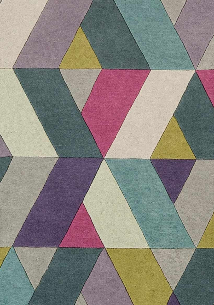 Tetra rug - blue and green