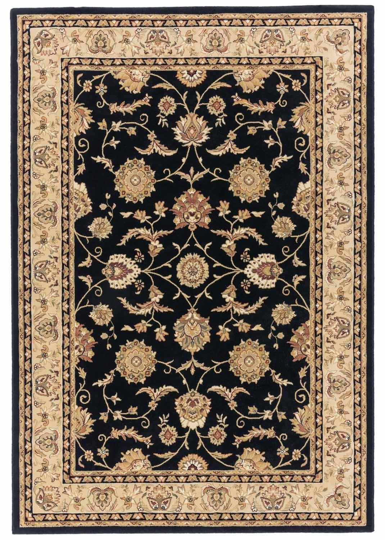 Visco rug black and gold