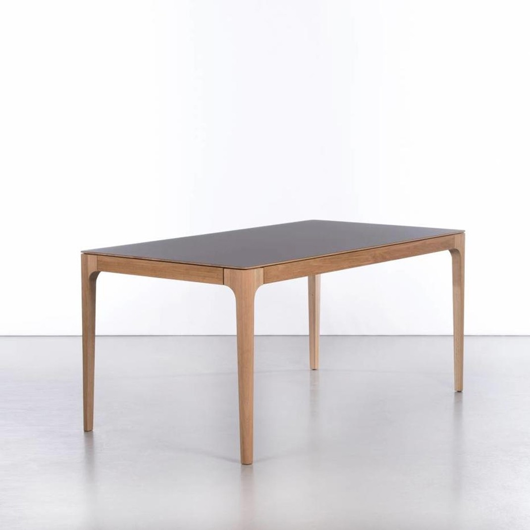 To view in Islington and Chiswick - Zurich extending table | 160/260 x 90 | 2 x 50cm extensions | Top: Grigio Bromo | Oak legs OO