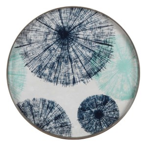 Notre Monde Umbrellas - Glass Round Tray - Small 48cm
