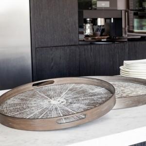 Notre Monde White Slice - Driftwood Round Tray - Small 48cm