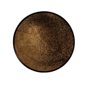 Notre Monde Heavy Bronze Mirror Tray – Round/Small - 48cm