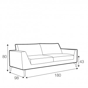 Tahoe 2 seater sofa
