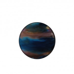 Notre Monde Indigo Organic - Glass Round Tray - Small 48cm
