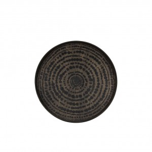 Notre Monde Black beads driftwood tray - small