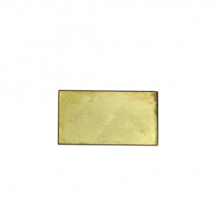 Notre Monde Gold leaf glass mini tray - Medium