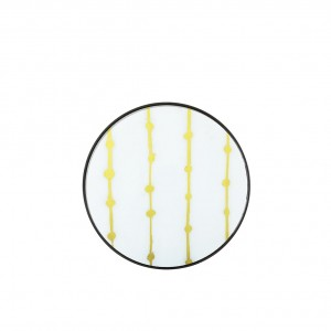 Notre Monde Gold Dots - Glass Round Tray - Small 48cm