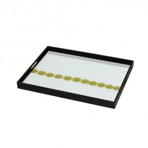 Notre Monde Dotted Line - Glass Square Tray - Small 46cm