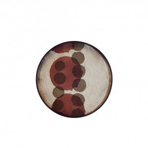 Notre Monde Pinot Layered Dots - Glass Round Tray - Small 48cm
