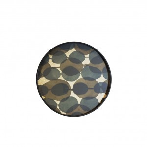 Notre Monde Connected Dots - Glass Round Tray - Small 48cm