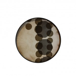Notre Monde Slate Layered Dots - Glass Round Tray - Medium 61cm