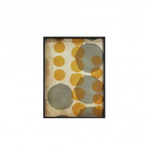 Notre Monde Sienna Layered Dots - Glass Rectangle Tray - Large 61cm