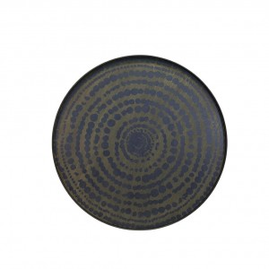 Notre Monde Stained beaded circle midnight tray XL