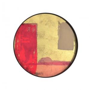 Notre Monde Raspberry Landscape - Glass Round Tray - Medium 61cm