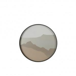 Notre Monde Sand Wabi Sabi - Glass Round Tray - Small 48cm