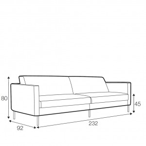 Kahlo 3.5 seater sofa - 2 seat cushions
