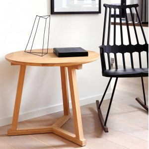 Oak Tripod side table - 70cm
